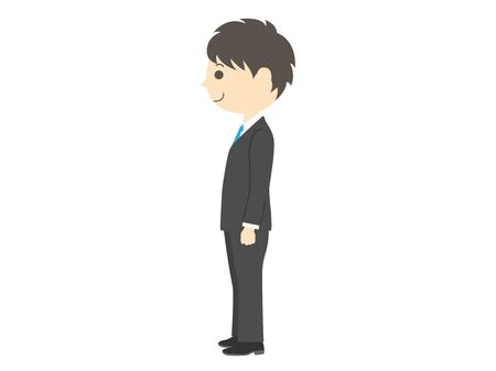 Illustration of a businessman seen from the side