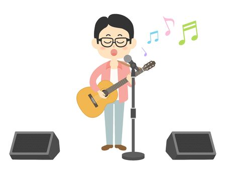 Illustration of a male musician.