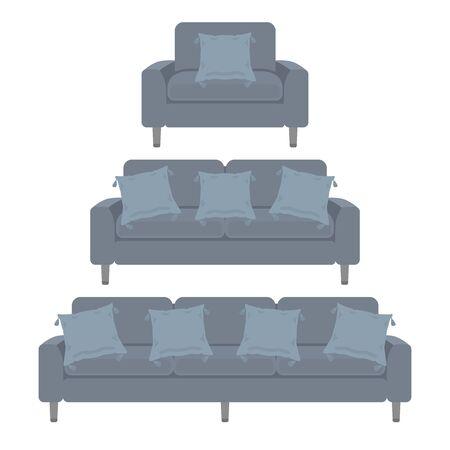 Illustration of the interior of the sofa. Reklamní fotografie - 132012297