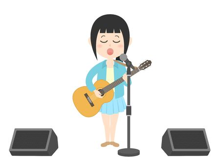 Illustration of a female musician.