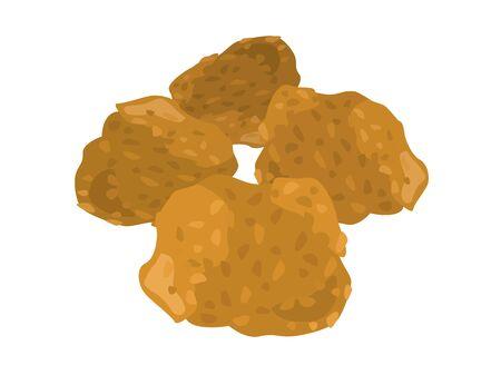 Fried chicken Stock Vector - 126406251