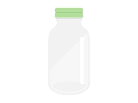 Illustration of a bottle of medicine. Ilustração