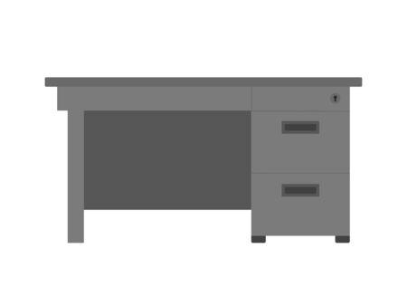 Illustration of the office desk. 向量圖像