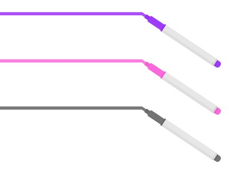 Illustration to draw a line with a marker.