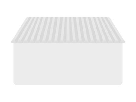Illustration of a bath with a lid.  イラスト・ベクター素材