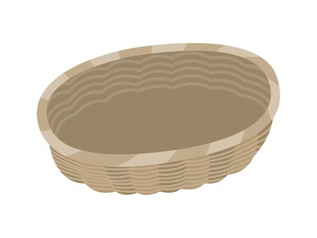 Illustration of a basket where food is put.