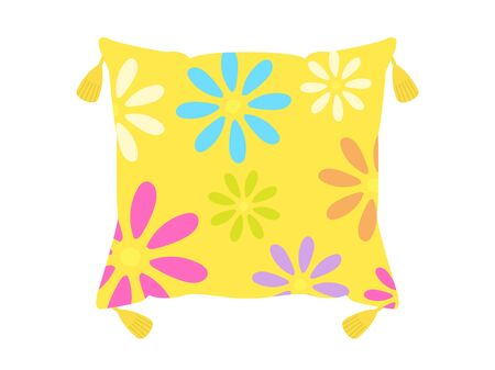 Illustration of a floral cushion.