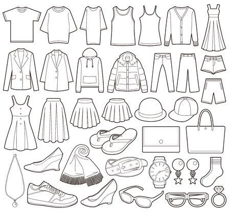 Illustration of fashion icon. Illustration