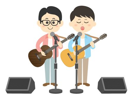 Illustration of two musicians