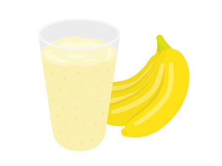 Banana Juice Illustrations