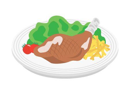 Roast chicken Illustration