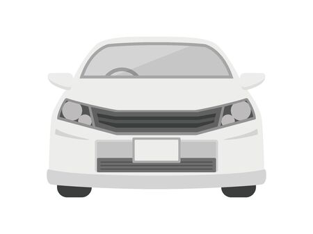 Illustration of the car seen from the front