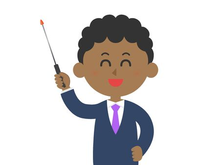 Illustration of a black teacher.