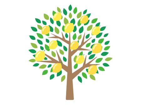 Ilustración de árbol de limón