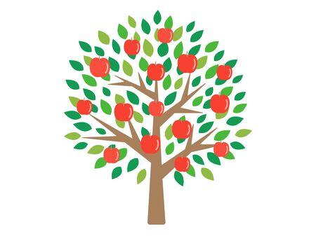 Apple Tree Illustration  イラスト・ベクター素材