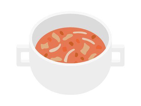 Minestrone Soup Illustration 일러스트