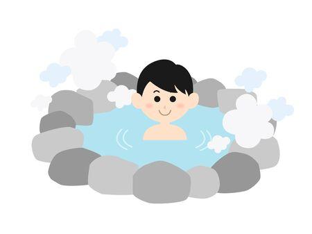 Aguas termales Ilustración de vector