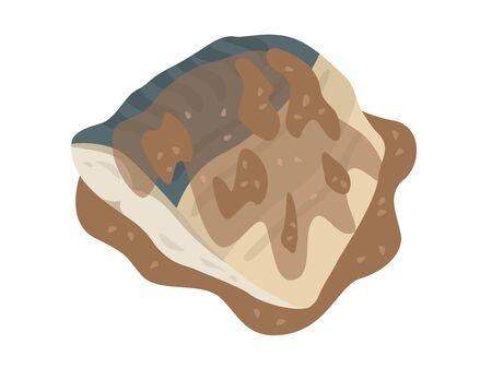 Boiled mackerel of miso Ilustrace