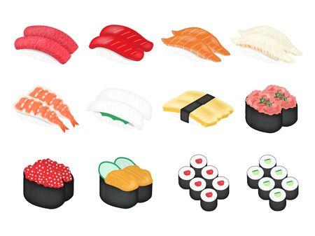 Illustration of sushi