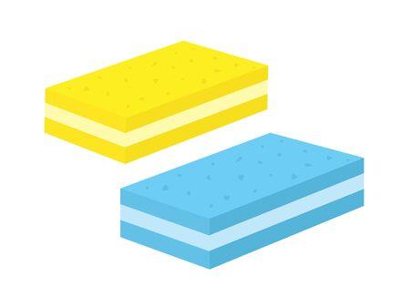 Kitchen sponge Иллюстрация