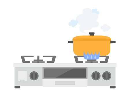 Gas stove Illustration