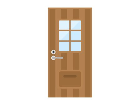 Illustration of closed door