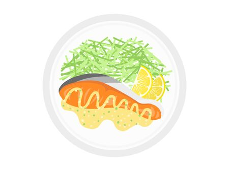Fillets of salmon