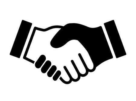 Icona della stretta di mano Vettoriali