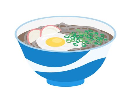 Illustration of Japanese soba