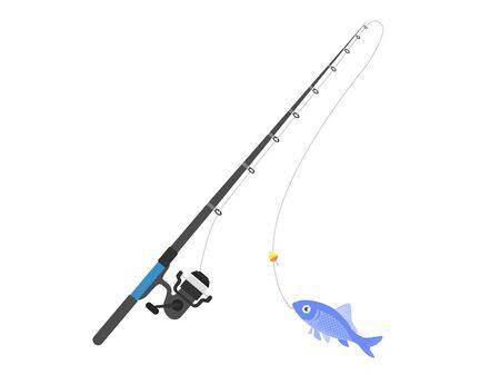 Fishing rod Ilustração Vetorial