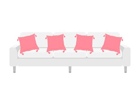 Illustration of a sofa for three people