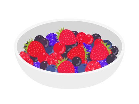 Mixed Berry Illustrations Illustration