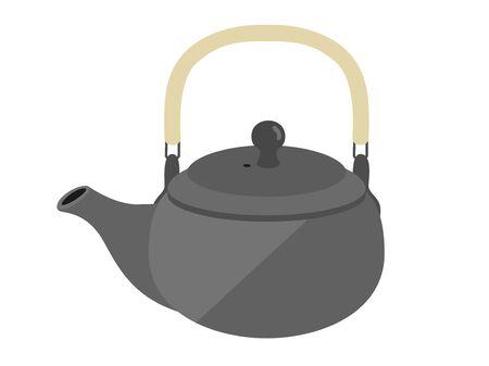 Illustration of Japanese teapots Illusztráció