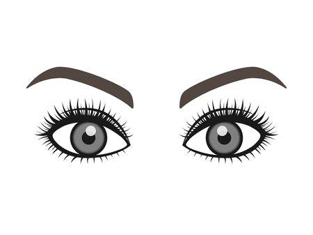 Eye and Eyebrow Illustrations  イラスト・ベクター素材