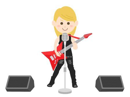 Rock Musician Illustrations