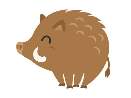 Smiling Wild Boar Character