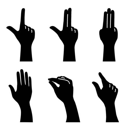 Silhouette of finger gestures