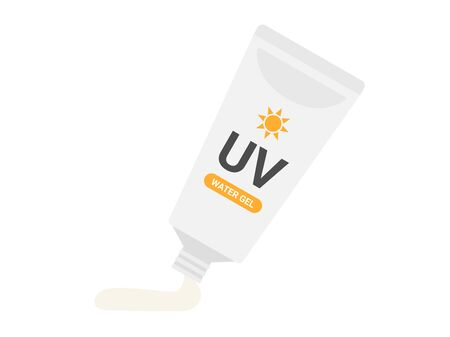 Sunscreen Cream Illustration Stock Vector - 128688303