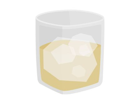 Illustration of a glass of whiskey Illusztráció