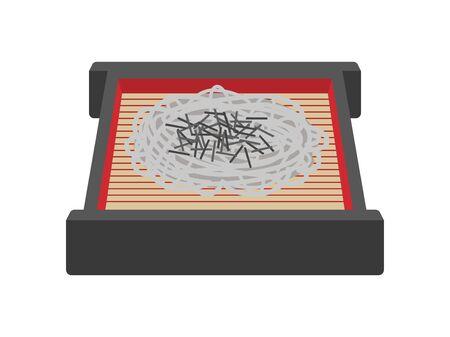 Illustration of soba