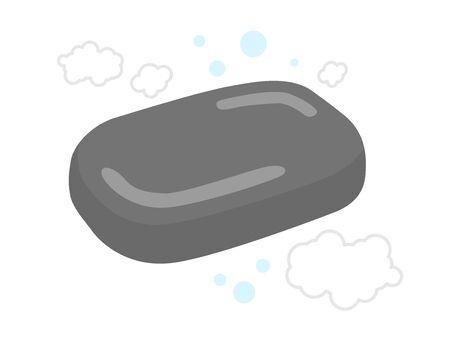 Charcoal Soap Illustration Illustration