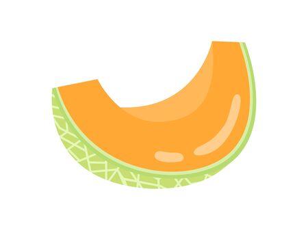 Illustration of cut melon Standard-Bild - 128222342