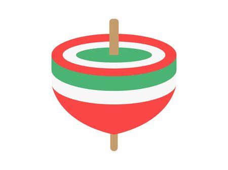 Spinning top 向量圖像