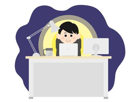 Desk work Illustration