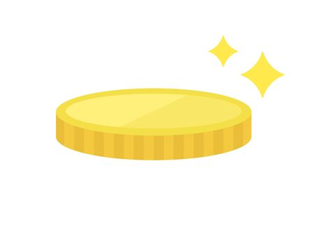 Illustration of shining coins