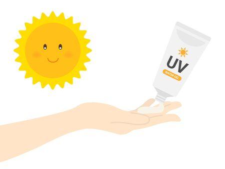 Sunscreen Cream Illustration Illustration