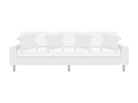 Illustration of three-person sofa