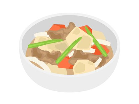 Illustration of boiled food