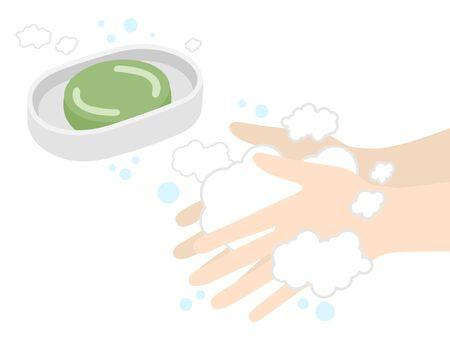 Zeep de handen