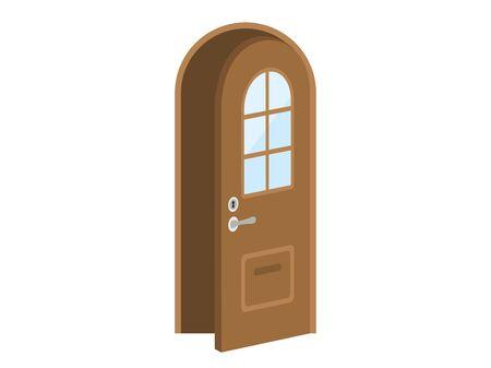 Illustration of an open door